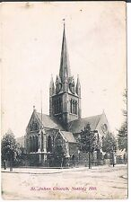 BEAGLES POSTCARD ST JOHNS CHURCH NOTTING HILL LONDON 1906