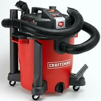 Craftsman XSP Wet/Dry Vacuum Set, Portable Rolling Vac 12 Gallon Gal 5.5 Peak HP