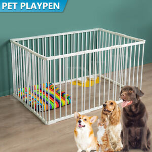 Portable Panel Pet Dog Playpen Puppy Kennel Exercise Cage Play Pen Large Fences