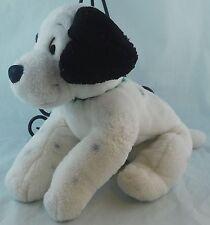 "Disney Store 101 Dalmatians PATCH Puppy Dog Plush 14"" Green Collar w/ Name"