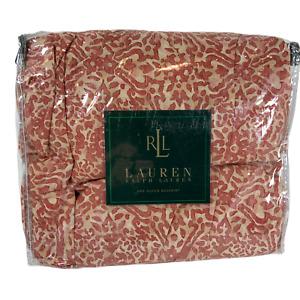 Ralph Lauren SAN LUCA CORAL SCROLL MEDALLION BEDSKIRT Queen ~NEW~