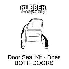 1948 - 1952 Ford Truck Door Seal Kit - 6 piece
