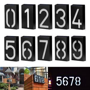 Solar LED Licht Hausnummer Nr.1 bis Nr.9 IP65 Hausnummernschild Wasserdicht