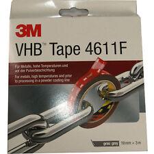 3M Doppelseitiges Klebeband VHB 4611F grau 3m x 19mm Metall Aluminium Edel-Stahl