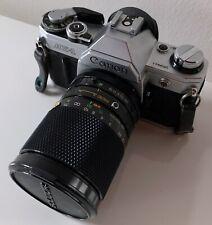 Appareil photo argentique—Canon AE1—Objectif Soligor 28-80 mm—Ouverture 3,5