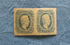 1863 Confederate States Type T Original Double Stamps