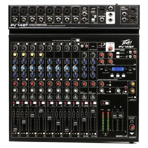 Peavey PV 14BT  14 Channel Analog Mixer with Bluetooth Connectivity