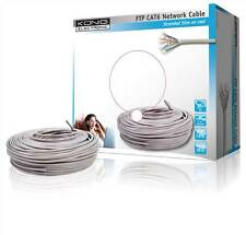 Konig FTP CAT6 network cable on 50m reel Shielded twisted pairs.