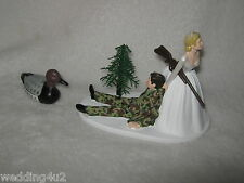 Wedding  Party Reception ~Duck Fowl  Bird~ Cake Topper  Camo Hunter Hunting