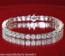 DIAMOND TENNIS BRACELET 11.00 CARAT F/SI 14KT WHITE GOLD EXCELLENT CUT