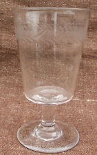 Authentic French Stemware Engraved Absinthe Glass 1900  A