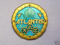 Atlantis Lost Continent - Satin Gold & Green - New Geocoin Unactivated