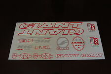 Giant XTC SE1 Stickers White, Red & Silver.