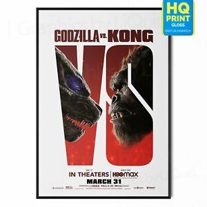 Godzilla vs. Kong 2021 Adam Wingard Monsterverse Movie Poster   A5 A4 A3 A2 A1  