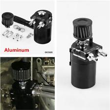 Black Aluminum Car Oil Catch Can Reservoir Tank / Oil Tank With Filter Universal