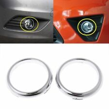 1 Pair ABS Chrome Front Fog Light Lamp Cover Trim For Ford Focus 2 Mk2 2009-2012