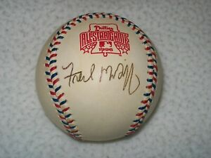 FRED MCGRIFF AUTOGRAPHED SIGNED 1996 ALL STAR BASEBALL BLUE JAYS PADRES BRAVES