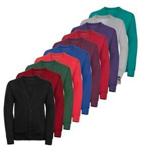 Kids School Uniform Boys Girls Brushed Fleece Sweatshirt Cardigan Heavyweight