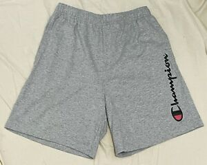 CHAMPION Mens Jersey Shorts CHAMPION SPELLOUT LOGO - Heather Grey - SMALL - NWOT
