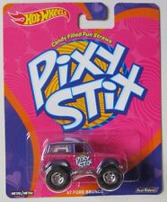 HOT WHEELS POP CULTURE CANDY - PIXY STIX '67 FORD BRONCO WITH REAL RIDERS
