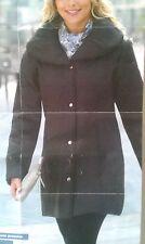 PARKA COL CHALE FEMME ANNE DE LANCAY  NEUF GRIS ARDOISE CHIC DECONTRACTE 42 44