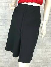 Prada New Black Wool Full Wrap Dress Pencil Skirt 8 US 44 IT S Runway Auth