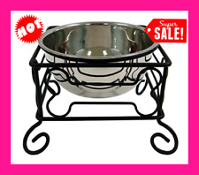 New ListingElevated Adjustable Single Raised Bowls For Large Dog Food Water Feeder Dish New