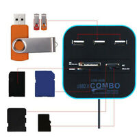 MMC Card Micro SD TF Combo Card Reader Splitter 3 Port USB 2.0 Hub All In One