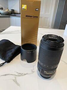 Nikon Zoom-Nikkor AF-S VR 70-300mm f4.5-5.6 IF-ED Lens Mint Condition