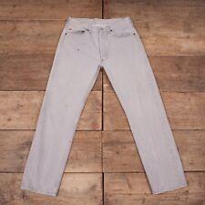 "Hombre Vintage Levis 501 Red Tab 1980s Gris Jeans Usa 33"" X 30"" R7016"
