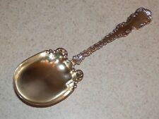 """Whiting Sterling Flatware Louis Xv Small Casserole Berry Spoon Gold Wash 7 1/2"""""""