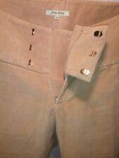NWOT ALVIN VALLEY Wide Band Textured Corduroy Beige Flare Leg Pants Sz 42/8