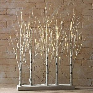 Raz Imports 30 Inch Lighted Birch Grove Tree~Christmas or Fall Decor~DISCOUNTED