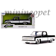 JADA 31605 1985 CHEVY C-10 PICK UP TRUCK 1/24 with STAR WHEELS BLACK WHITE