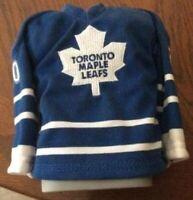 2003 2004 Pacific Head Up Hockey Mini Sweaters Ed Belfour - Toronto Maple Leafs