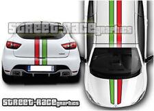 Ottu 011 FIAT Strisce Da Corsa Adesivi Grafica TETTO COFANO 500 500X 500 L PUNTO