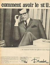 Publicité 1966  Vetements DRADOR  costume DRADOR TERGAL laine ALPAGA