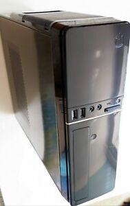 CiT S014B Micro ATX / Mini ITX Slim PC Case 300W PSU Card Reader + DVD Drive inc