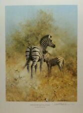david shepherd limited edition zebra mother and foal etosha