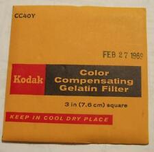 Kodak wratten GELATINA Filtro no.cc40y 7.6cm OR 7.6cm Cuadrado