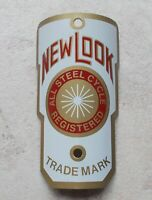 Vintage cycles NEW LOOK Netherlands bicycle head badge antique bike cycle