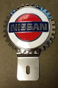 NEW License Plate Topper for Nissan- Chromed Brass- Great Gift Item