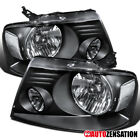 For 2004-2008 Ford F150 06-08 Lincoln Mark LT Black Headlights Lamps Left+Right  for sale