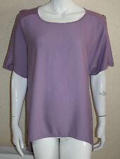M&S Autograph Womens Lilac Dip Hem Sleeveless Textured Top Size 18 New