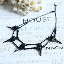 RAVEN Pendant Necklace Black Bird Skull, Chocker Necklace Unisex Mens Necklace