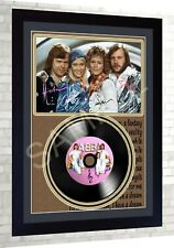 Abba SIGNED FRAMED PHOTO PRINT AND Mini LP Perfect Gift #2