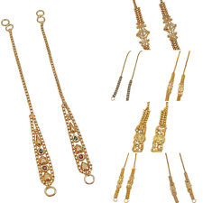 Jwellmart Indian Bollywood Gold Plated Self Design Earring support / Ear Chains