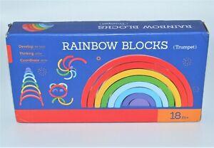 OZM Toys Nesting & Stacking  Rainbow Blocks (Trumpet) - Educational - 18 Months+