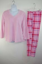 NEW Plush Soft Fleece Pajamas Pink Top Plaid Pants 2pc Set Womens Plus 2x NWT