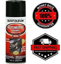 Rust-Oleum 252462 Automotive 12 Oz Enamel Spray Paint Gloss Black Car Kit Can